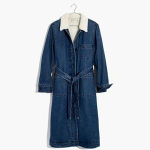 Madewell Chambray Sherpa Lined Coat